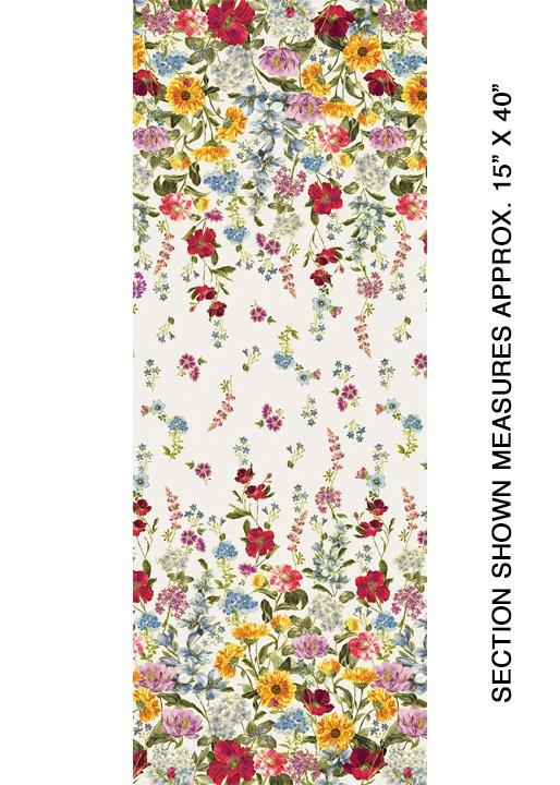 Benartex - Wild Flower Border Cream 8932-07