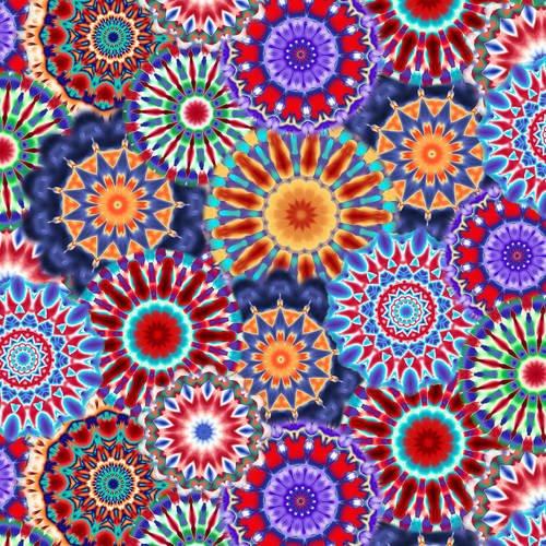Blank Quilting - Radiance Kaleidoscope 108 9885-70 Blue/Multi