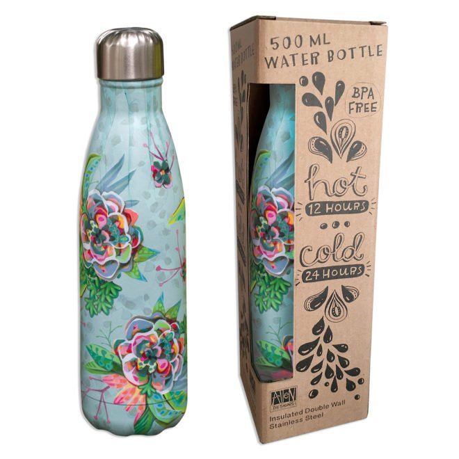 Insulated 500 ml water bottle - Blooms by Allen Designs