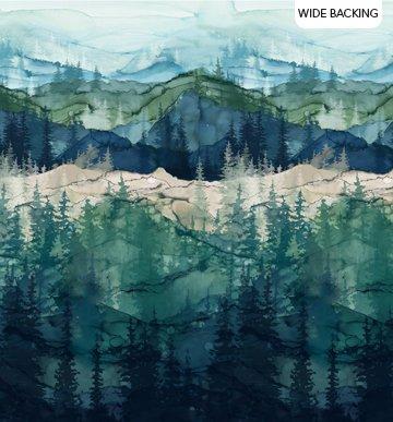 Northcott B23751-46 Whispering Pines-Whispering Pine-Dark Blue Multi