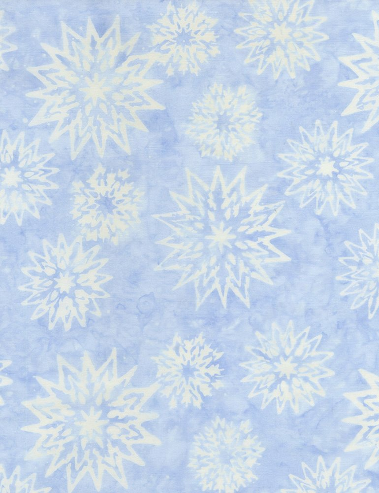 Timeless Treasures - Baltic Batik  Tonga B4007 Snowflake Mix  Rain