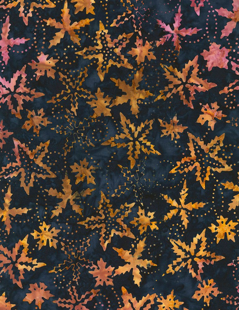 Timeless Treasures - Tonga Fireside by Daniella Stout  B5409 Spikey Flower  Ink