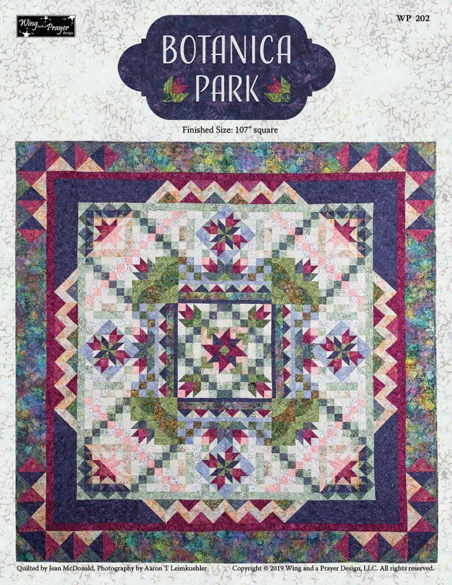 Botanica Park - Fabric Kit + Pattern - 107 square