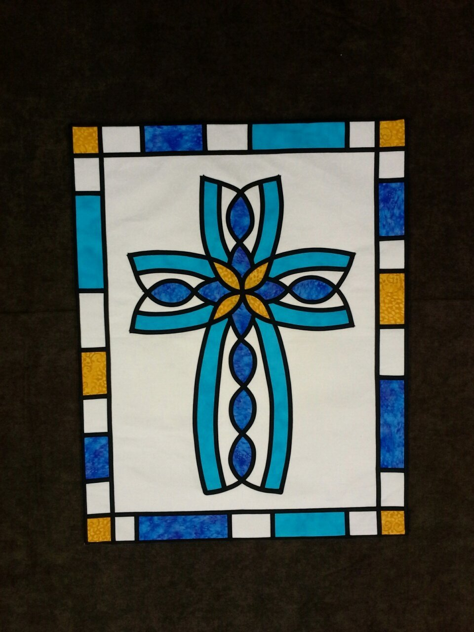 Divine - Stained Glass Quilt Pattern by Ruth Green