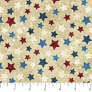 Northcott - Stars & Stripes Flannel 2019 F20159-30 Beige