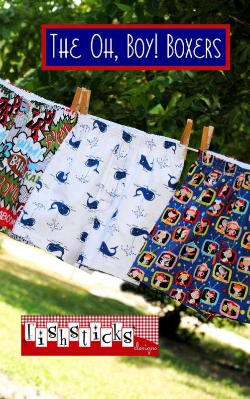 The Oh Boy! Boxers by Fishsticks Designs