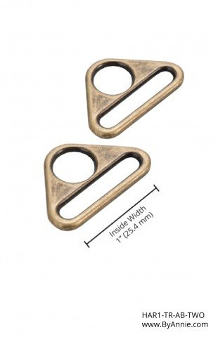 ByAnnie Triangle Rings 1inch Antique Brass Set of Two