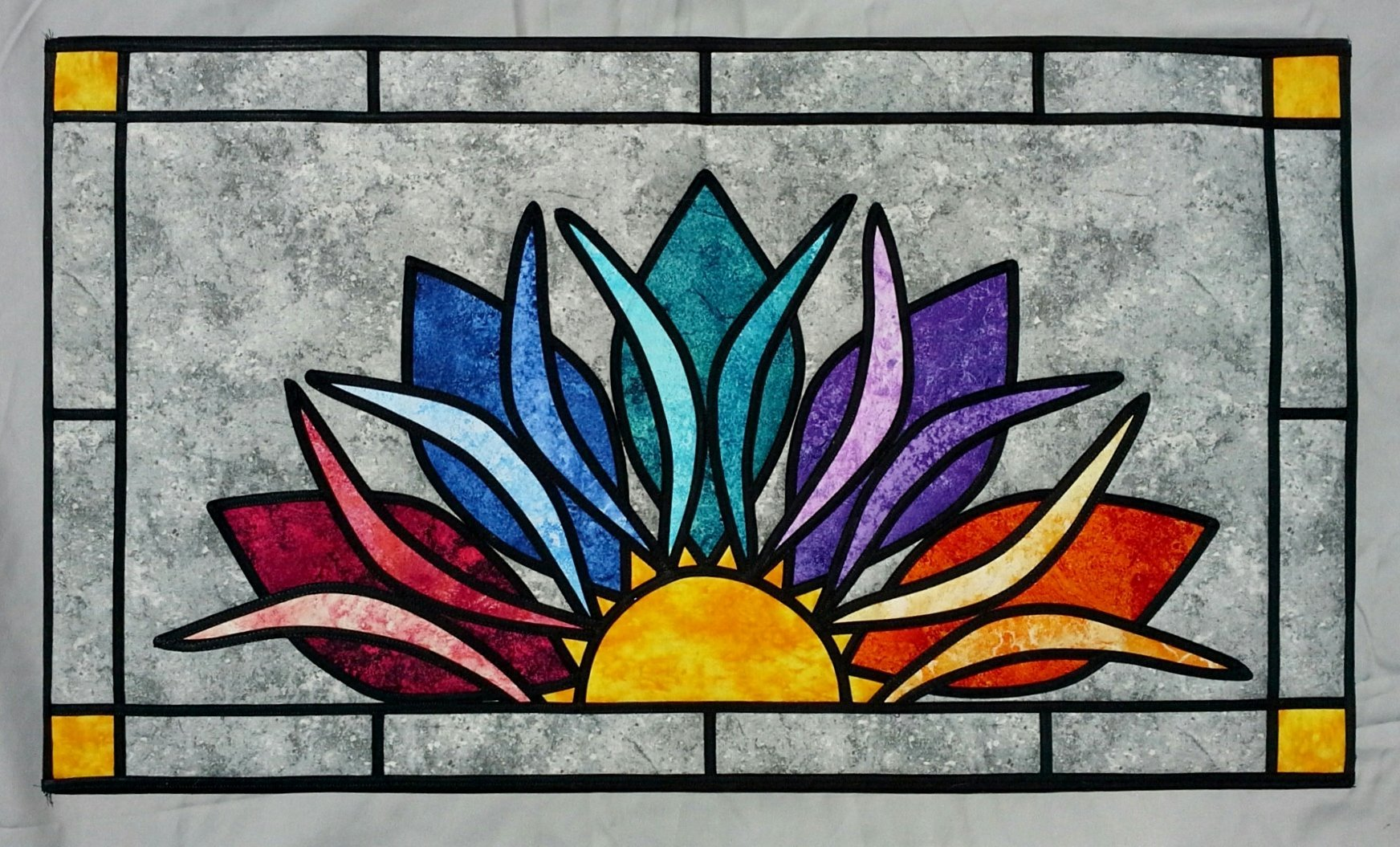 Heavenly Sunshine - Stained Glass Quilt Pattern by Ruth Green