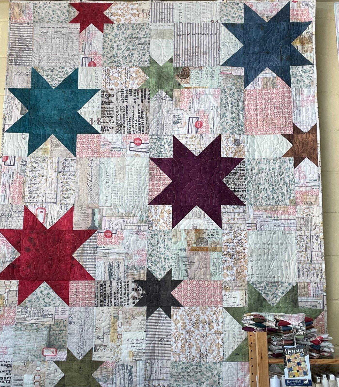 Stargazer - Tim Holtz fabrics + pattern
