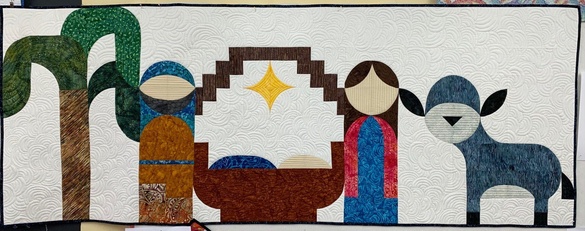 Starry Night - Holy Family, Donkey &Tree (Fabric Only Kit)