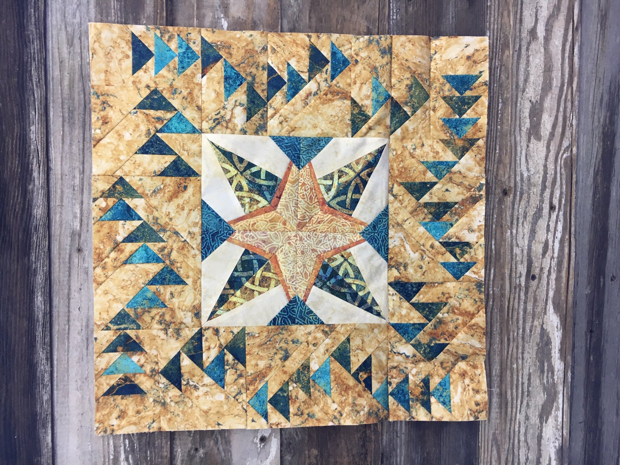 ACME's Solstice Block Party - Fabric + Pattern - 18x18 finished