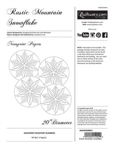 Rustic Mountain Snowflake - Papers