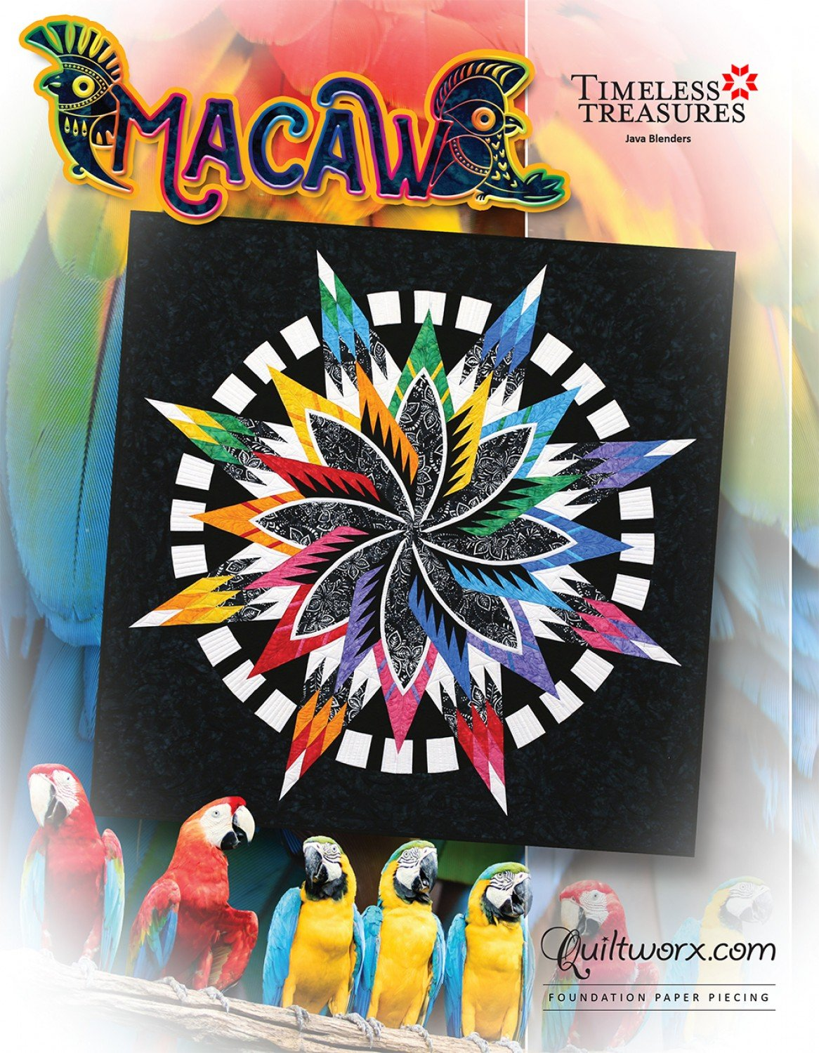 Macaw Fabric Kit + Pattern (more kits coming soon!)