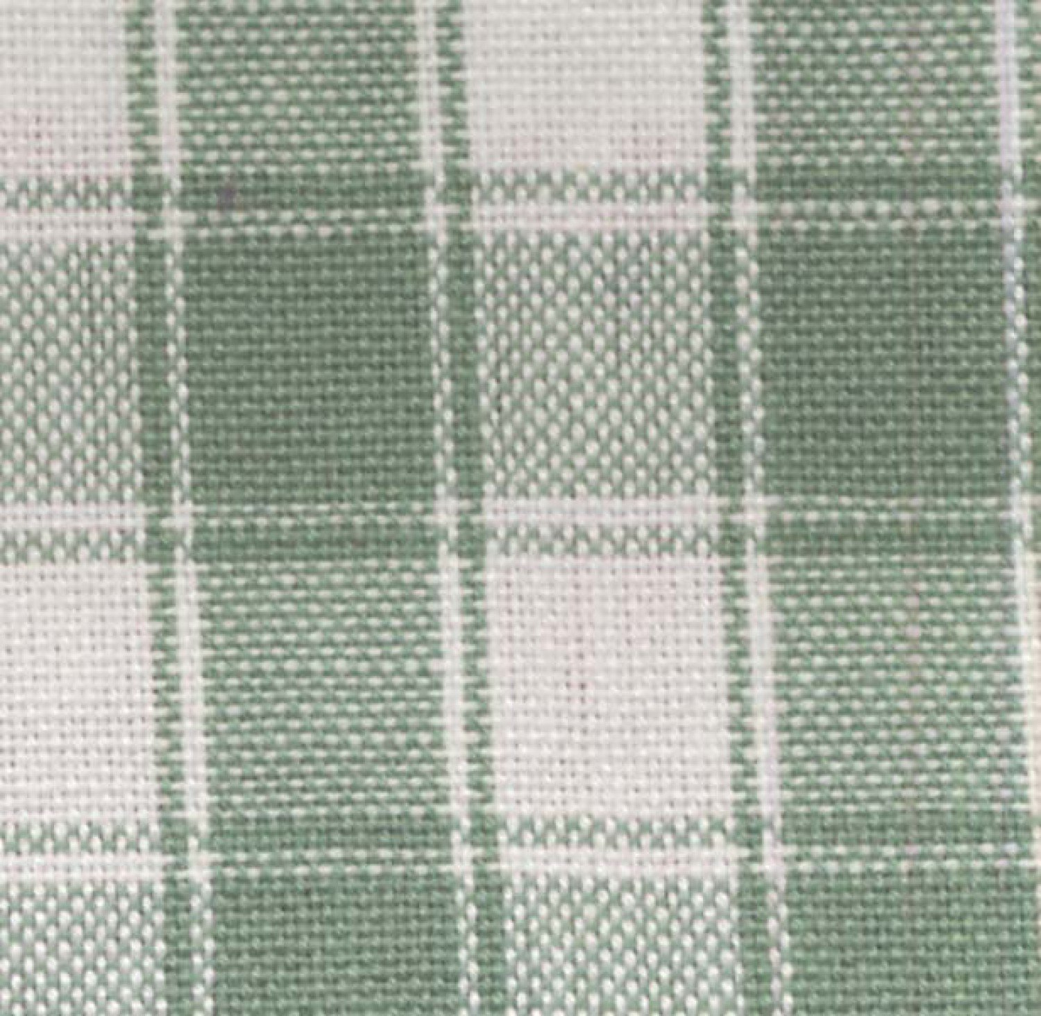 Tea Towel House Check Lt Green/White