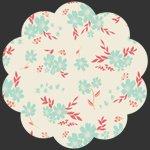 Art Gallery Fabrics - Knit - Flyaway Petalums Sky K-2023