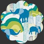Art Gallery Fabrics - Knit - Elephant Skyline K-727