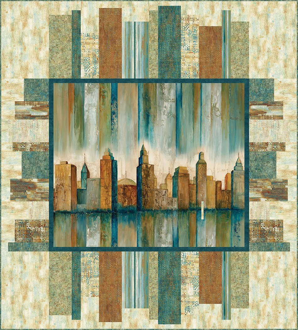 Metropolis 65 x 72 Quilt fabric kit + pattern