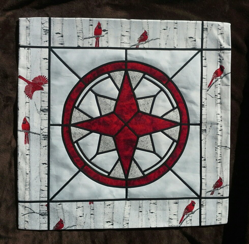 Northern Star - Stained Glass Quilt Pattern by Ruth Green