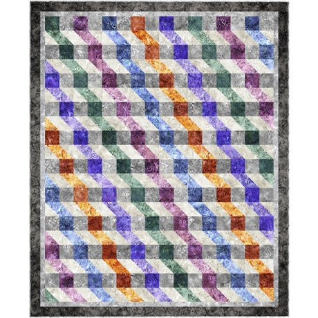 Ombre Ripple - Fabric Kit + Pattern  54 in x 66 in