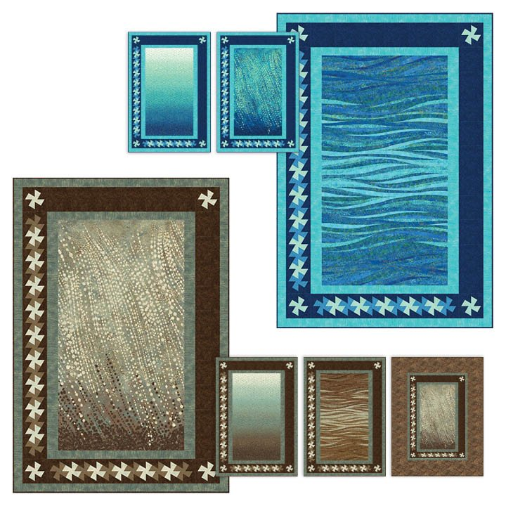Frame & Twist Fabric Kit + Pattern - 39 x 57 (Earth Colorway)