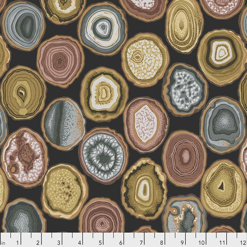 Kaffe Fassett Collective - PWPJ099.CHARCOAL Geodes - Charcoal