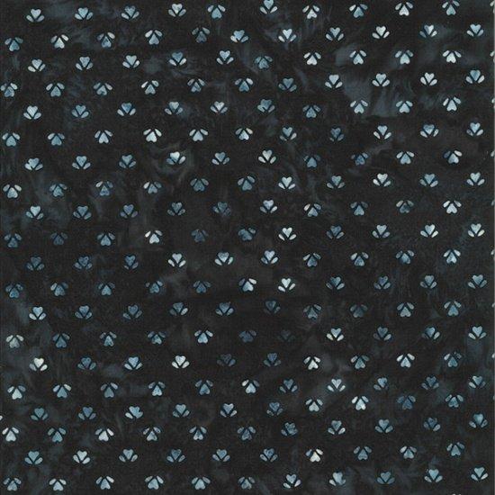 Hoffman Fabrics - Bali Batiks - Ditzy Hearts Blacklight Q2152-537