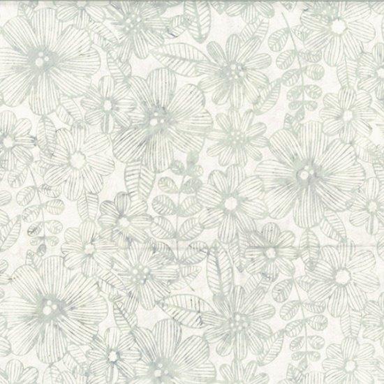 Hoffman Fabrics - R2274-521 Bali Batik  Line Floral Mist