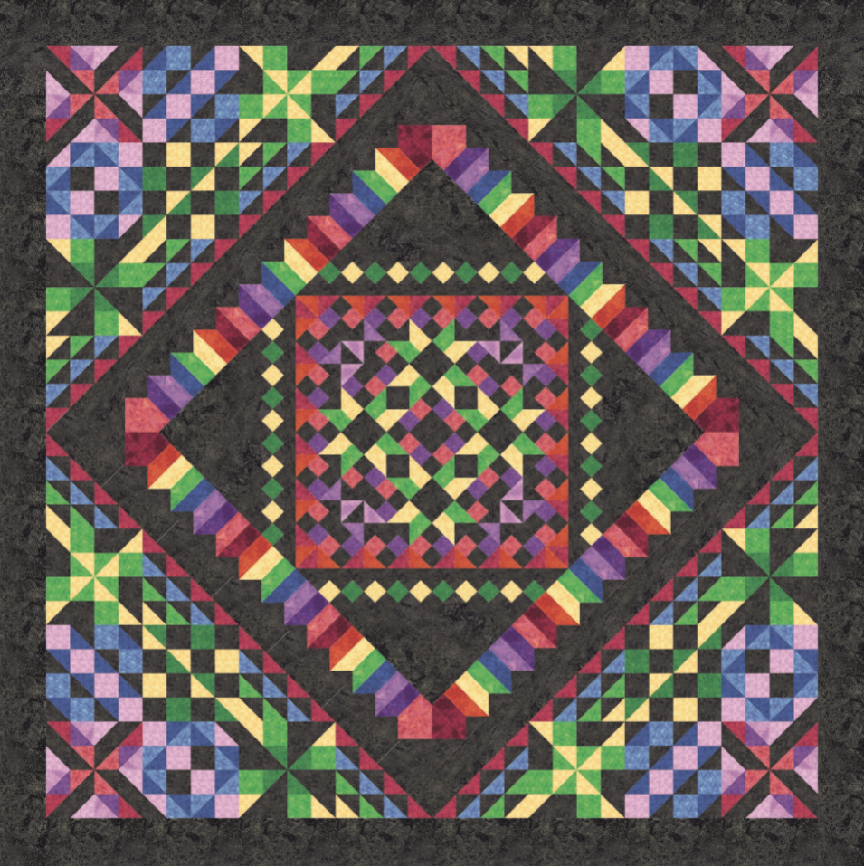 Kaleidoscope fabric kit + pattern
