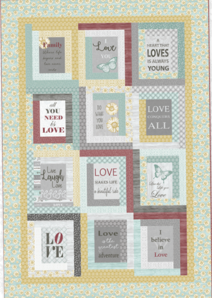 Live by Love - Fabric Kit + Free Pattern - 59 x 86