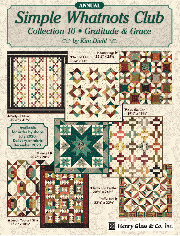 Simple Whatnots - 2021 - Fabric Kit + 8 patterns