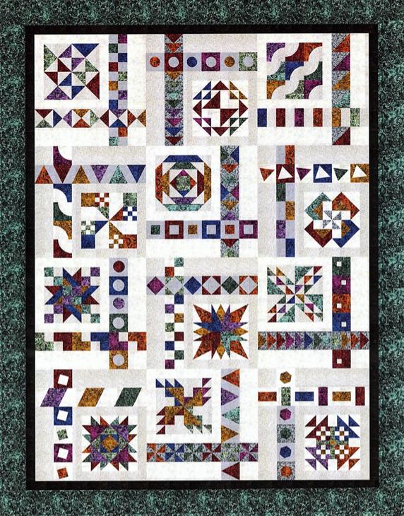 Illusions Sampler BOM - Royal Blue Border Fabric kit + Pattern (No backing) - available December