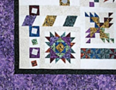 Illusions Sampler BOM - Purple Border Fabric kit + Pattern (No backing) - available December