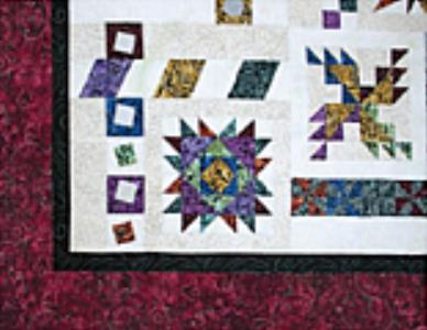 Illusions Sampler BOM - Dark Red Border Fabric kit + Pattern (No backing) - available December