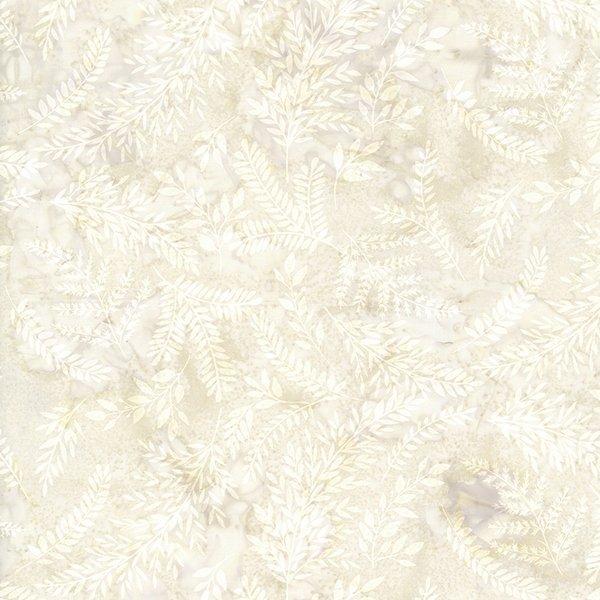 Hoffman Fabrics - Bali Batik - T2378-531 - Mixed Leaves - Papyrus