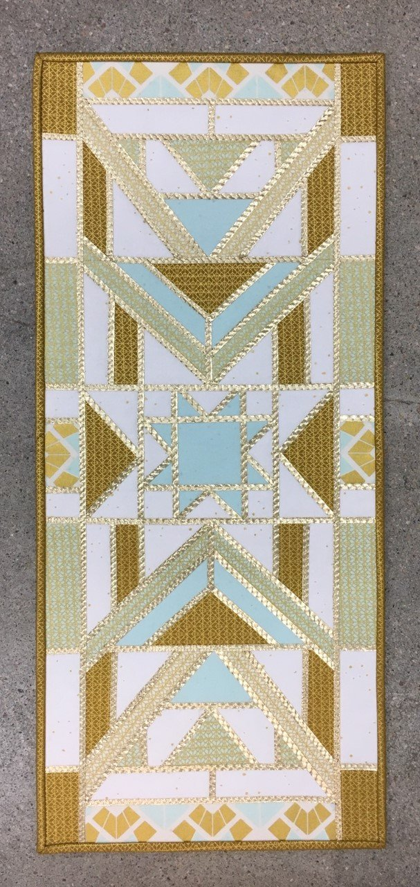 Triangle Prism - Gas Light Blue - Fabric + Pattern