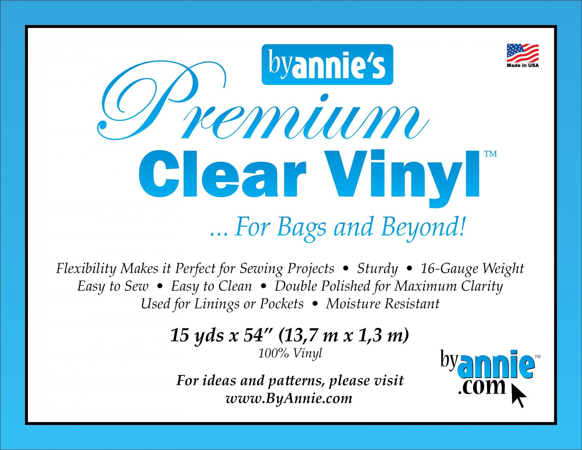 Vinyl Clear 16 gauge 54 - ByAnnie.com