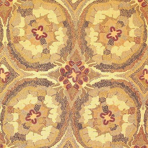 M & S Textiles Australia - Women Dreaming Burgendy