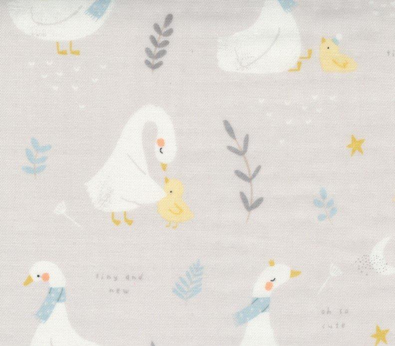 Little Ducklings Gauze Grey 60in Wide