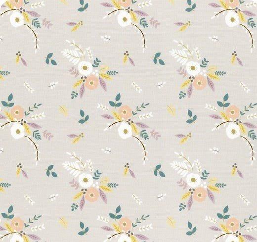 Little Ducklings Floral Bouquet Warm Grey