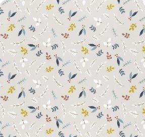Little Ducklings Foliage Sprigs Warm Grey