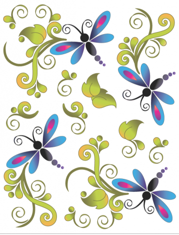 Tattoo Elementz Dragonfly Bliss