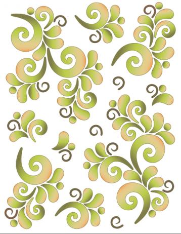 Tattoo Elementz Wave on Wave Green