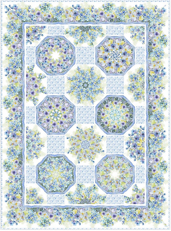 Leah Kaleidoscope Quilt Kit 65 x 87.5