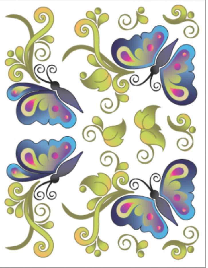Tattoo Elementz Butterfly Bliss