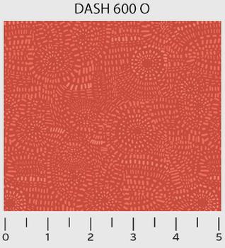 P & B Textile Dash Red Orange