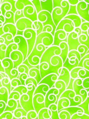 Exclusively Quilters Petal Poetry Green Swirl