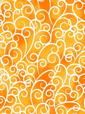 Exclusively Quilters Petal Poetry Yellow Swirls