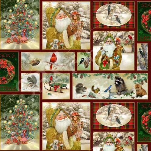SPX Fabrics Old World Christmas Allover Print