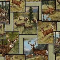 Quilting Treasures Whitetail Ridge Deer Patch Sage
