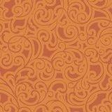 EBi Fabrics Leisurely Scrolls Tangerine